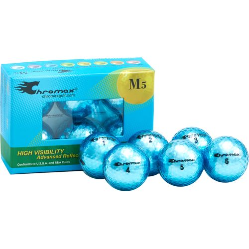 Chromax Blue Metallic Blue Personalized M5 Golf Balls - 6-Pack