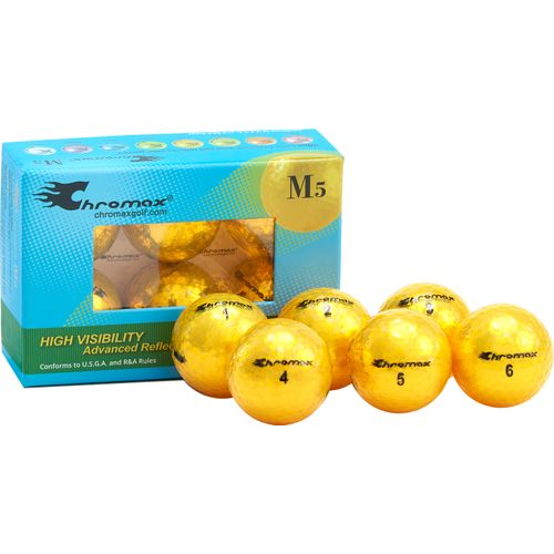 Chromax Gold Metallic Gold M5 Personalized Golf Balls - 6-Pack