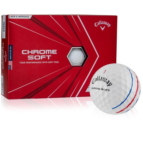 Callaway Golf White Chrome Soft Triple Track Personalized Golf Balls