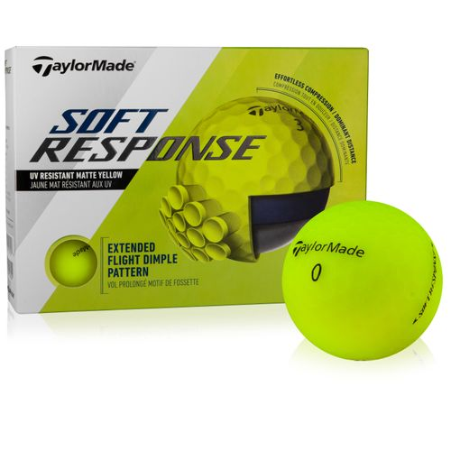 Taylor Made Soft Response Yellow Personalized Golf Ball
