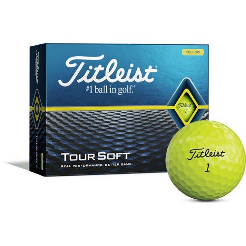 Titleist Tour Soft Personalized Yellow Golf Balls