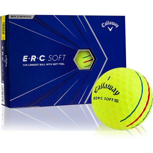Callaway Golf ERC Soft Yellow Triple Track Personalized Golf Balls