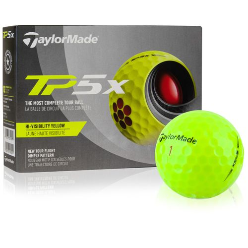 Taylor Made TP5x Yellow Personalized Golf Balls - 2021 Model