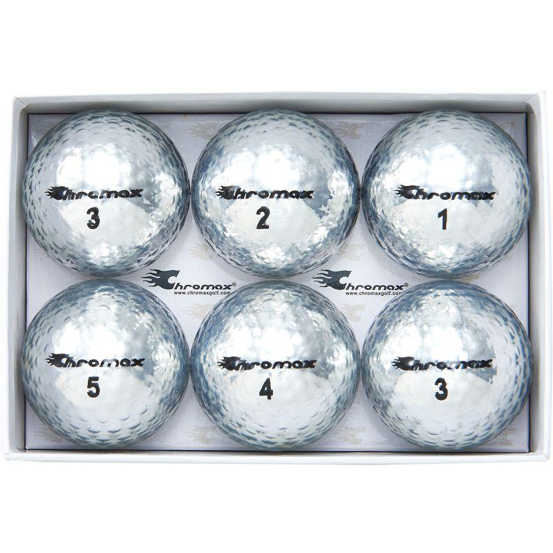 Chromax Metallic Silver M5 Golf Balls
